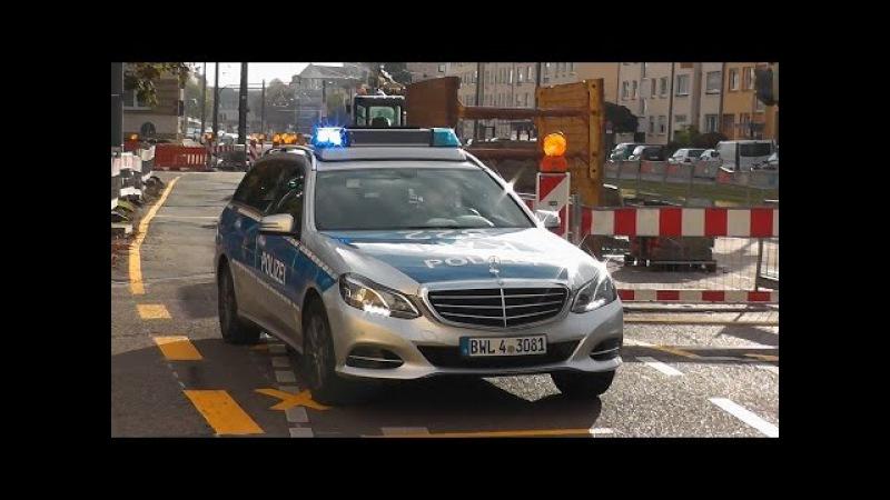 [Hören die das Horn nicht] Funkstreife der Polizei Karlsruhe hats schwer im Baustellenverkehr