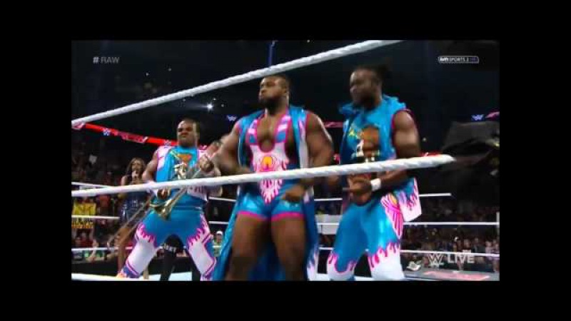The New Day dancing on Seth Rollins Theme Song - WWE RAW 11.02.2015