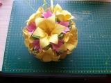 Поделки из бумаги своими руками шар оригами кусудама Электра модуль (ч.1) Kusudama Electra