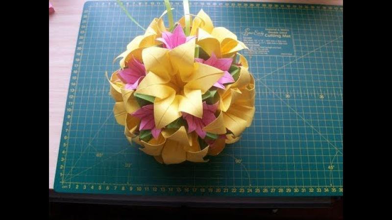 Поделки из бумаги своими руками: шар оригами кусудама Электра модуль (ч.1) Kusudama Electra