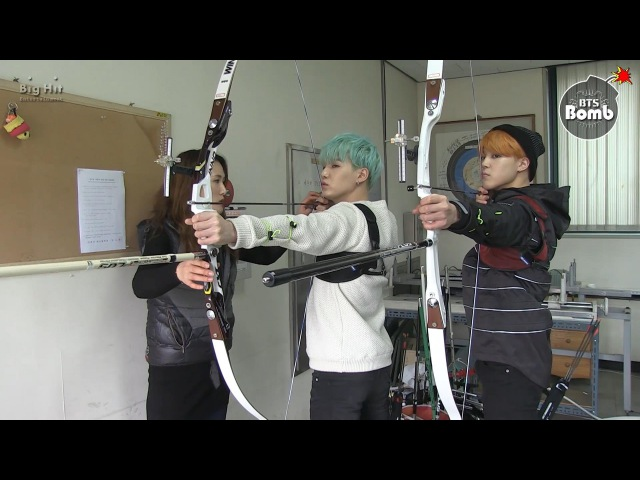 [BANGTAN BOMB] BTS (방탄소년단) Became an archer! SUGA JIMIN's new challenge for ISAC