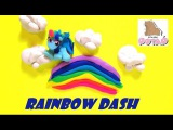 Play Doh My Little Pony Rainbow Dash Stop Motion Май Литл Пони Рейнбоу Деш Мультик Из Пластилина