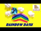 Play Doh My Little Pony Rainbow Dash Stop Motion Май Литл Пони Рейнбоу Деш Мультик Из Пластилина