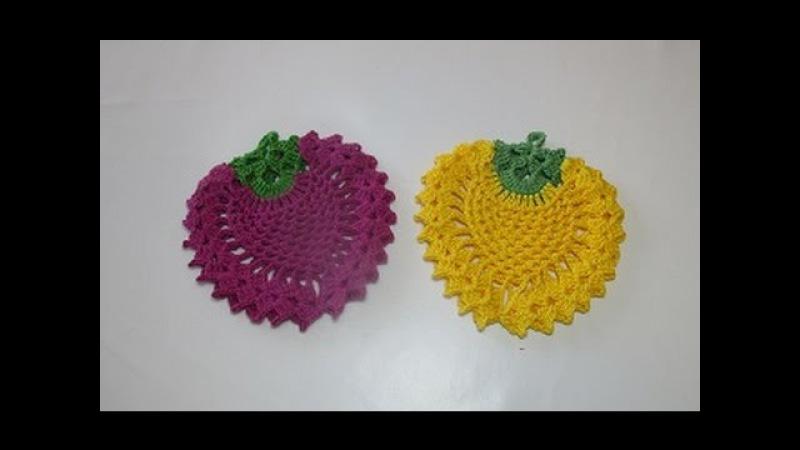 Crochê Pega Panelas Abacaxi Morango