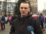 Мітинг на підтримку Надії Савченко в обласному центрі підтримали активісти й студенти