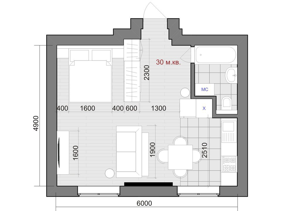 Концепт студии 30 м.