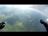 Нереально крутой прыжок с парашютом от первого лица(супер качество)