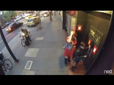Sparks fly as bike thief grinds through lock at mid day in San Francisco