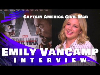 Emily VanCamp Interview- Captain America:Civil War