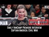 Emily VanCamp Premiere Interview - Captain America: Civil War