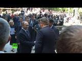 Путин принимает участие в церемонии открытия часовни под перевалом Вршич в Словении