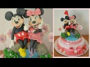 Tutorial mickey mouse and minnie cake topper fondant topolino topolina pasta zucchero