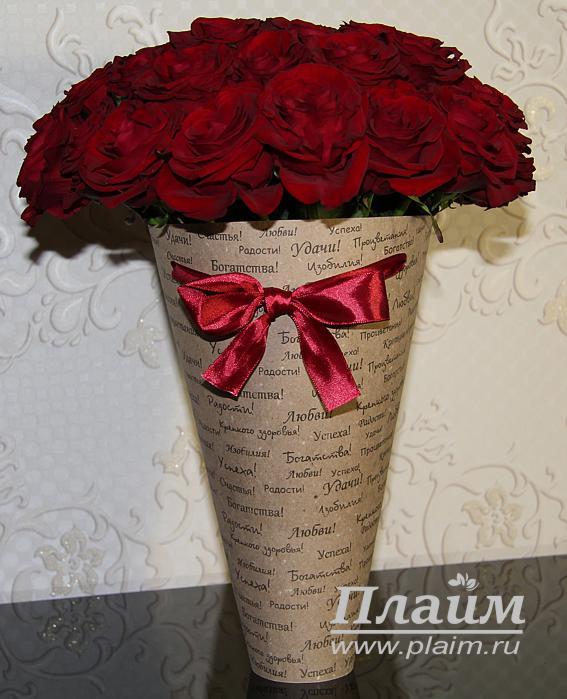 Цветы в пакете своими руками 9