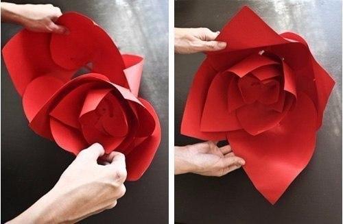 Как сделать из бумаги цветы для свадьбы