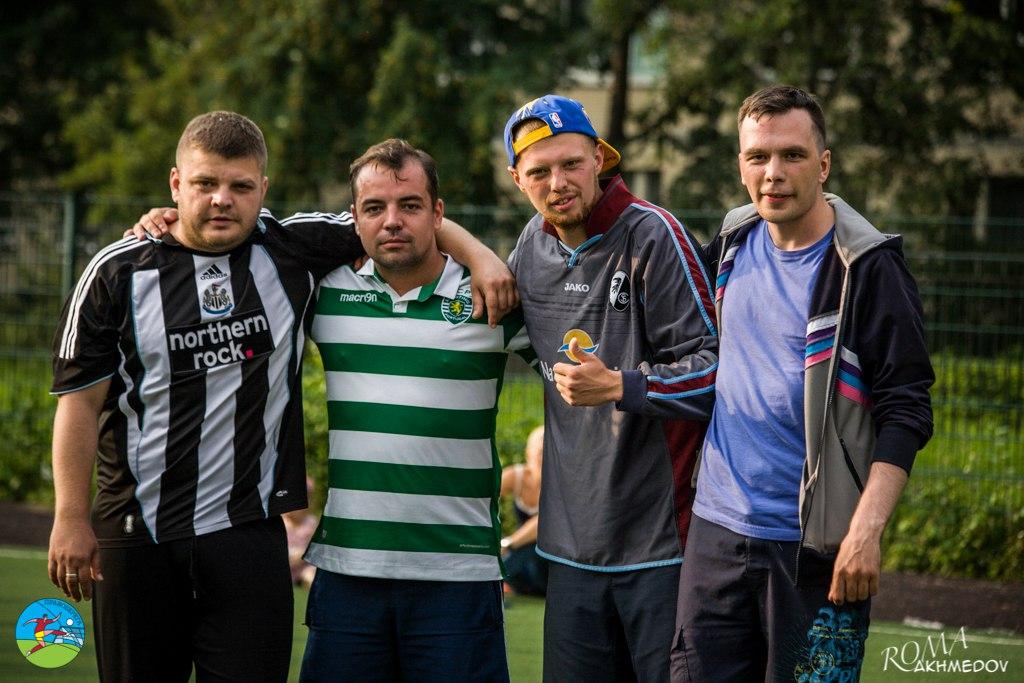 Андрей Наумочкин, Александр Ходенко, Александр Артемов и Константин Бондаренко на турнире пенальтистов - 2016