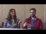 Фиби Тонкин и Дэниел Гиллис дают интервью на  Comic-Con 2016