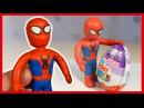 Человек-Паук из пластилина. Киндер Сюрприз. Spiderman of plasticine. Kinder Surprise Egg.