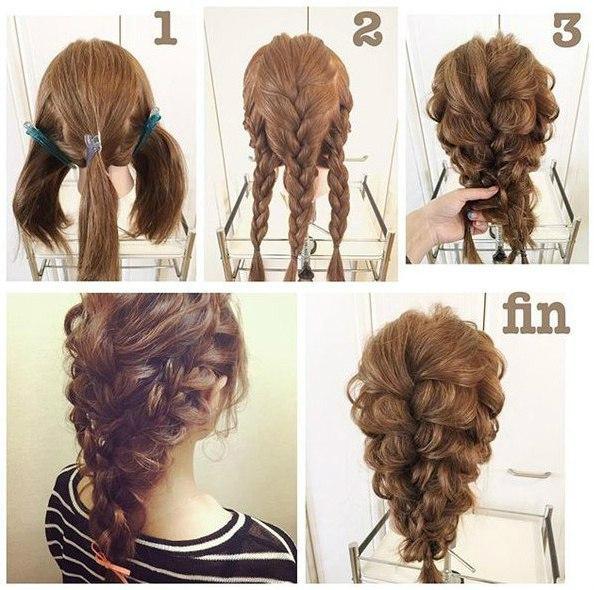 Прически самой себе на длинные волосы пошаговое для начинающих
