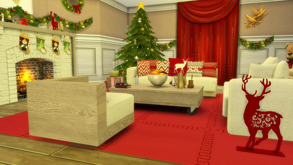 Sims 4 Christmas Living Room