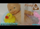 Little Baby Bathtime Doll Baby Poop Explosion Baby doll SPA Bath and rubber duck playset for girls