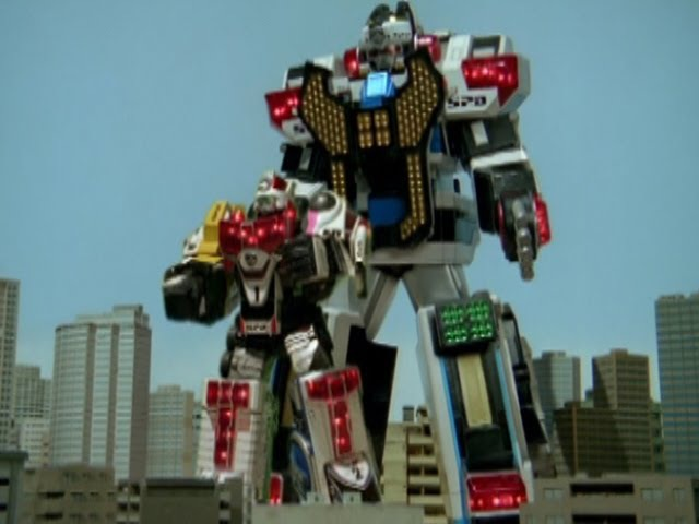 Power Rangers S.P.D. - All Megazord Fights.
