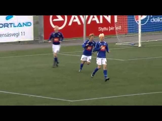 Чемпионат Исландии празднование гола РЫБА