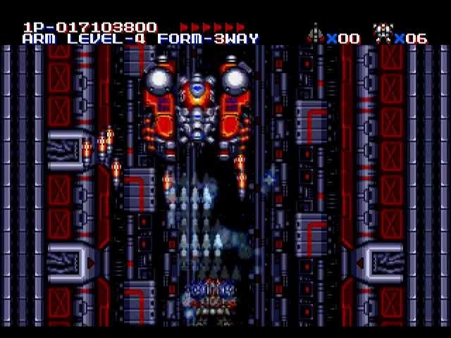 M U S H A Musha Aleste Hard Mode Sega Mega Drive Genesis Full Game
