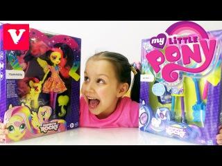 Май Литл Пони - Эквестрия герлз Диджей Пон 3 - распаковка игрушек /// My Little Pony