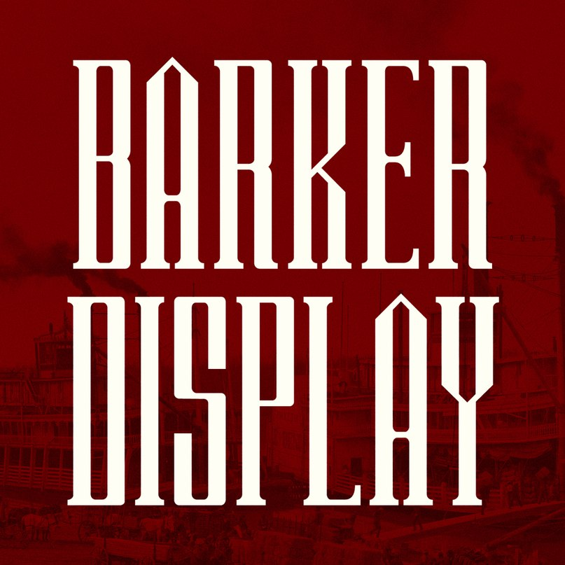 Barker COM шрифт скачать бесплатно