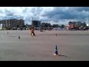 Второй этап чемпионата России по мото джимхане. Великий Новгород, выступление чемпиона прошлого года.