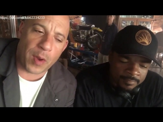 Vin Diesel and F Gary Gray about Fast 8 news F8 2016
