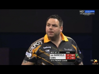 Raymond van Barneveld vs Adrian Lewis (2016 Premier League Darts / Week 12)