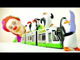 Pretend Play with Clown and penguins from Madagascar.