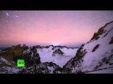 очевидцы засняли метеоритный дождь в горах Китая