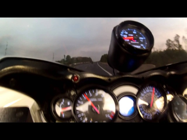 Turbo Hayabusa doing 220MPH on the streets!