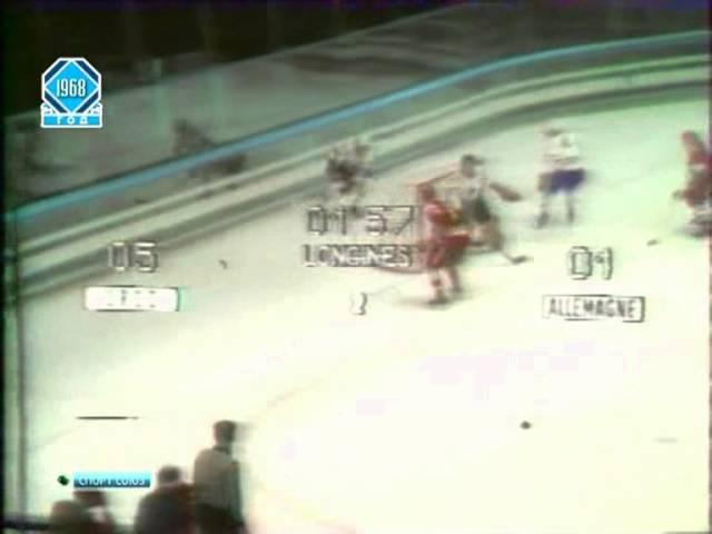 1968 Hockey USSR FRG Олимпийские игры 1968 СССР - ФРГ ХОККЕЙ