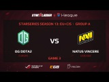NaVi vs OG , StarSeries 13 EU, Game 3