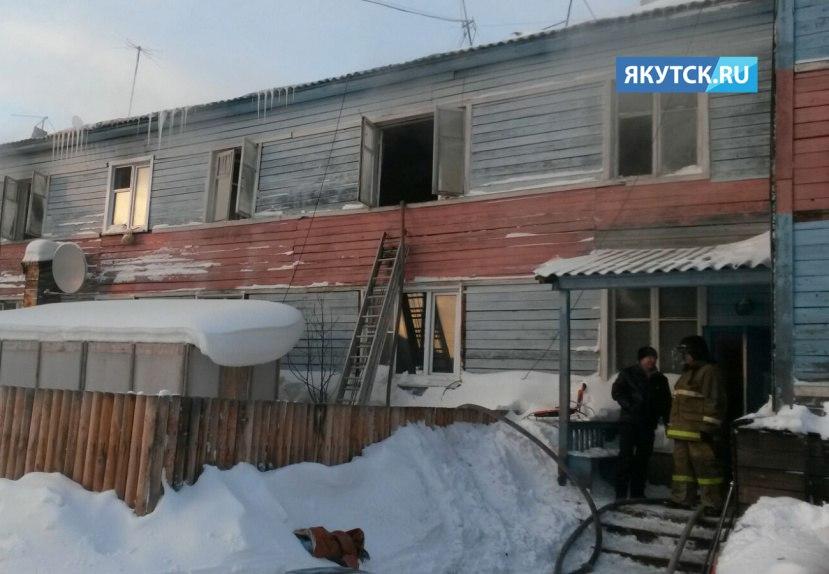 Один человек погиб при пожаре жилого дома в Ленске