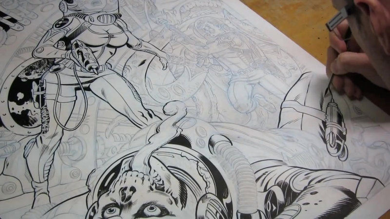 THE PROCESS_ Inking Old-School