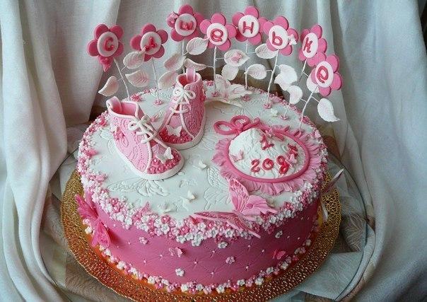 Детские торты на годик девочке фото