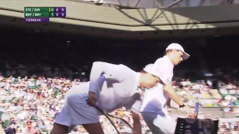Bob Bryan - Mike Bryan vs Radek Stepanek - Nenad Zimonjic (2016 Wimbledon - 3rd Round)