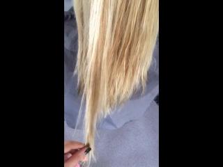 волосы до кератина