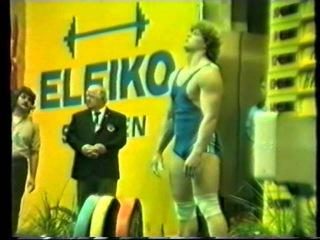 Weltrekord Vlad Nicu 200,5 kg Reissen Kat. 100kg bei den Weltmeisterschaften 1986 in Sofia