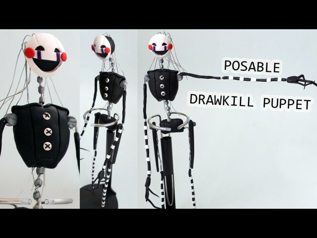 Drawkill Puppet Marionette MAR10NETT3 Posable Figure Tutorial BudgetHobby Collaboration FNAF