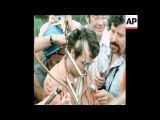 SYND 7-9-72 SCIENTIST MICHEL SIFFRE EMERGES FROM CAVE AFTER FIVE MONTHS