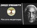 Что есть медитация Джидду Кришнамурти
