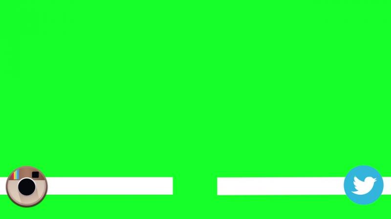 ФУТАЖ_ анимированные социальные сети_ANIMATED SOCIAL MEDIA BAR GREEN SCREEN