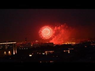 Салют 23.7.16 #салют #праздник #вечерняямосква #видизокна  #Фестивальфейерверков