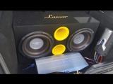 2x Cadence S3W12 Автозвук, бассы, саб, сабвуфер, флекс авто. [LOW BASS] Flex, бас в машине