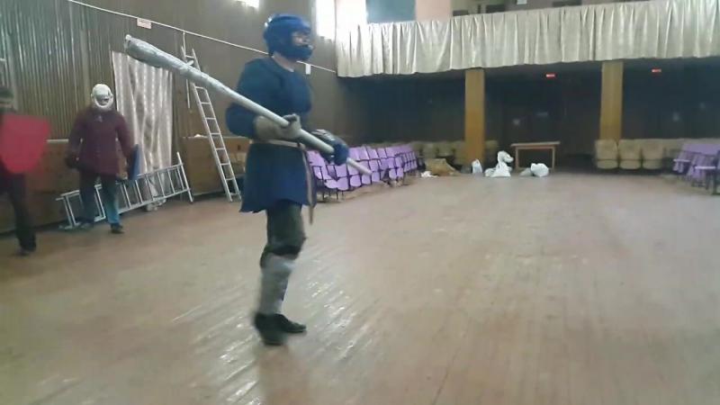 А.Галкин(алебарда)-П.Чесноков(щит и меч) тренировка 23.08.16